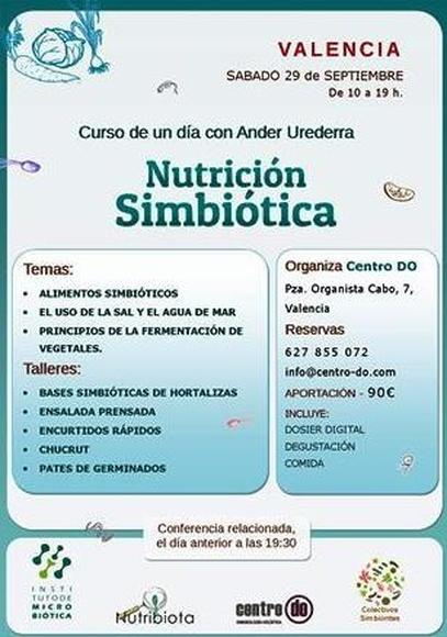 CURSO TEÓRICO PRÁCTICO DE NUTRICIÓN SIMBIÓTICA DE UN DÍA; sábado 29 de septiembre-2018