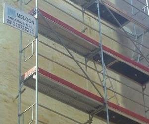 Proyección  de espuma de poliuretano en fachada