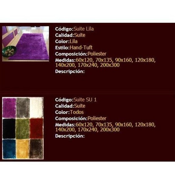 Alfrombras: Nuestro catálogo de productos de Telar