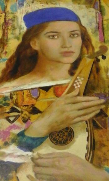 Detalle obra de Goyo Domínguez  99 x 40