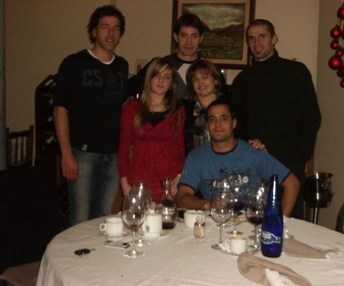 Begino, Rubén Beloqui, Olaizola I y Bengoetxea pelotaris navarros
