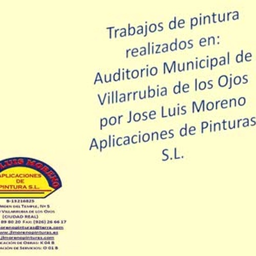 Pintura realizada en Auditorio Municipal de Villarrubia de los Ojos