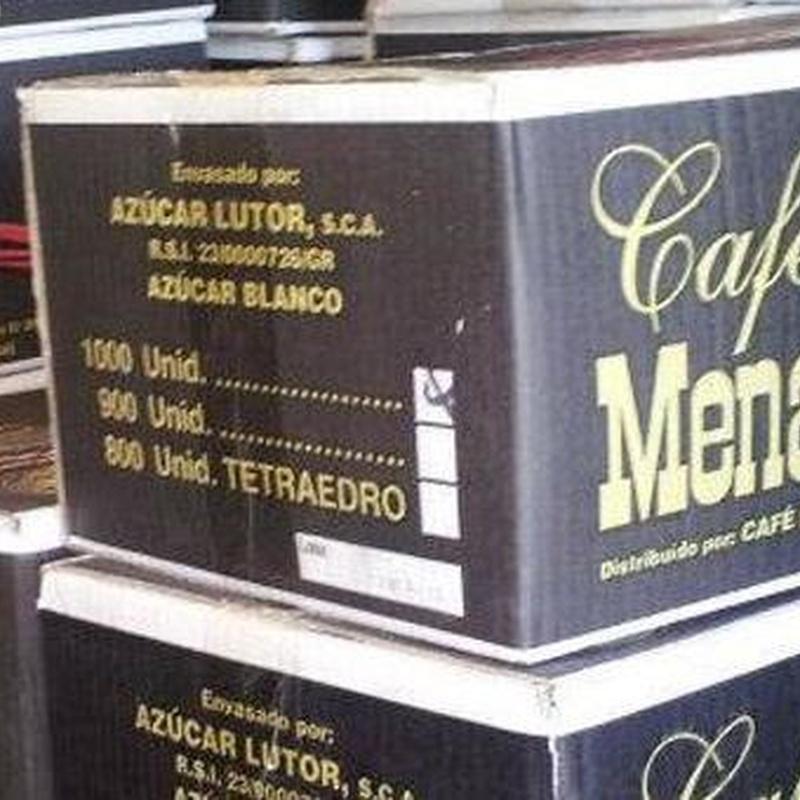 azucar. Cafe mena