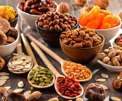 Fruta, Fruta Deshidratada y Frutos Secos