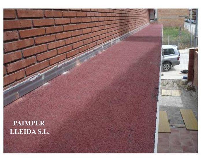 Impermeabilización de voladizos: Catálogo de productos de Paimper Lleida, S.L.