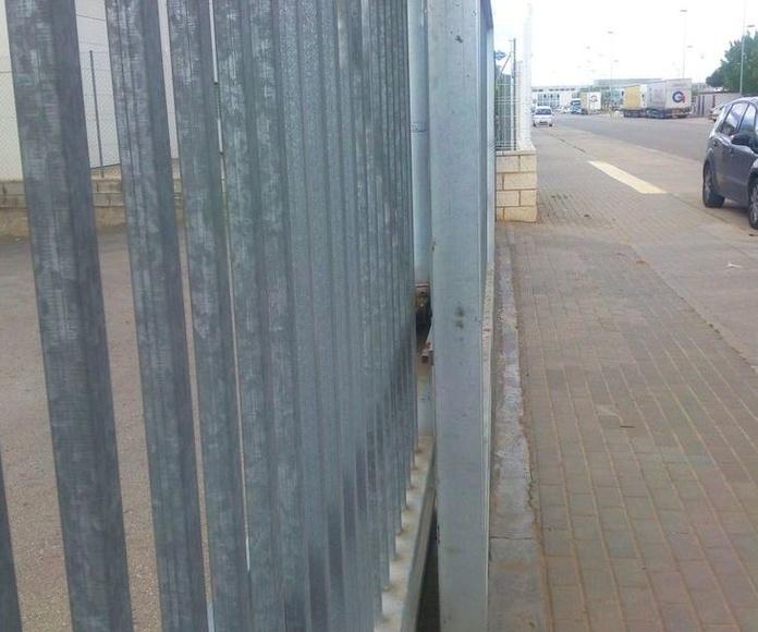 A222 Puerta corredera telescópica