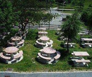 Restaurante con jardines en Mieres