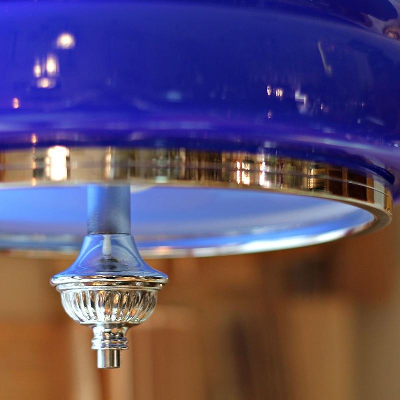 Lámpara de cristal opalino azul Klein: Artículos  de Ruzafa Vintage