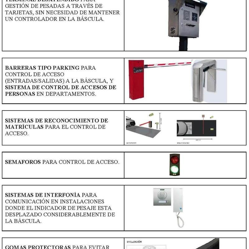 ACCESORIOS Y SISTEMAS PARA BÁSCULAS PUENTE (I)