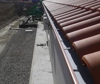 Canalones en tejados