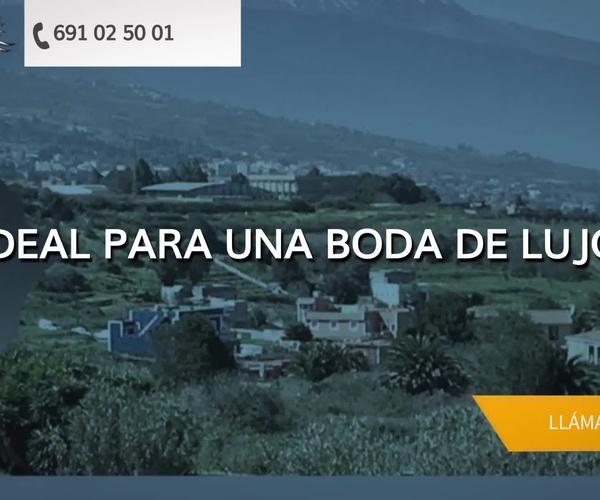 Alquiler de fincas para eventos en Tenerife - Finca Los Viñedos