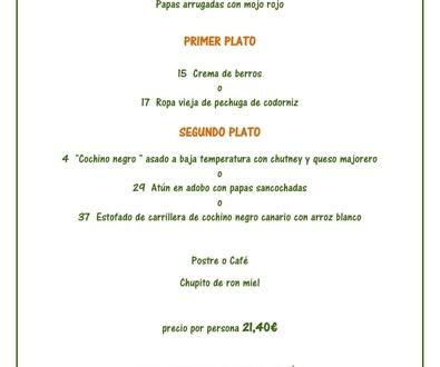 Menú degustación canario / Canary tasting menu