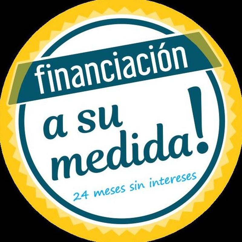Financiación a su medida, hasta 24 meses sin intereses.