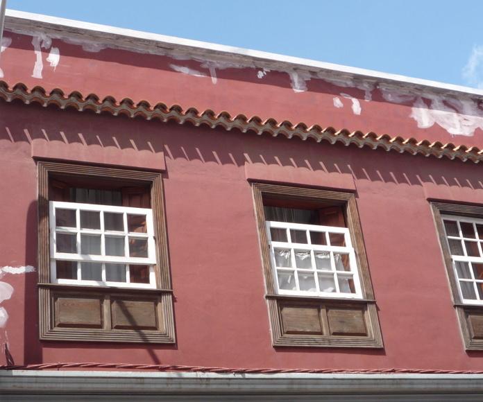 Trabajos de rehabilitación de fachadas vivienda en La Laguna, Santa Cruz de Tenerife