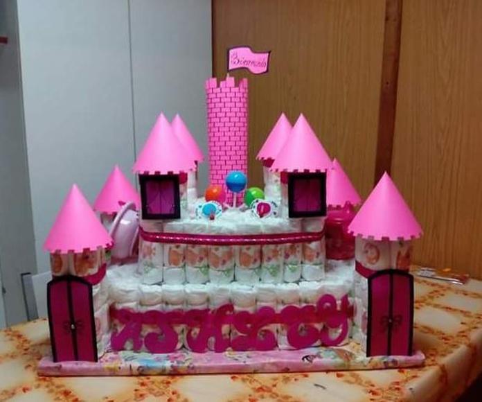tarta pañales castillo Ferrol