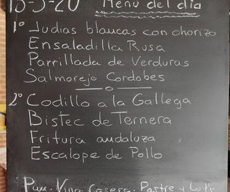 Sugerencia del Chef: Carta y menús de Restaurante Gonzalo