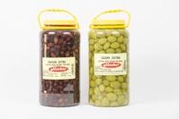 Aceituna Negra Natural Extra y Aceituna Caspe Extra: Bote 2.5 Kg
