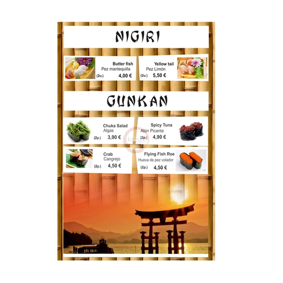 Nigri / Gunkan: Carta y menú de Restaurante Teppanyaki Kazuki