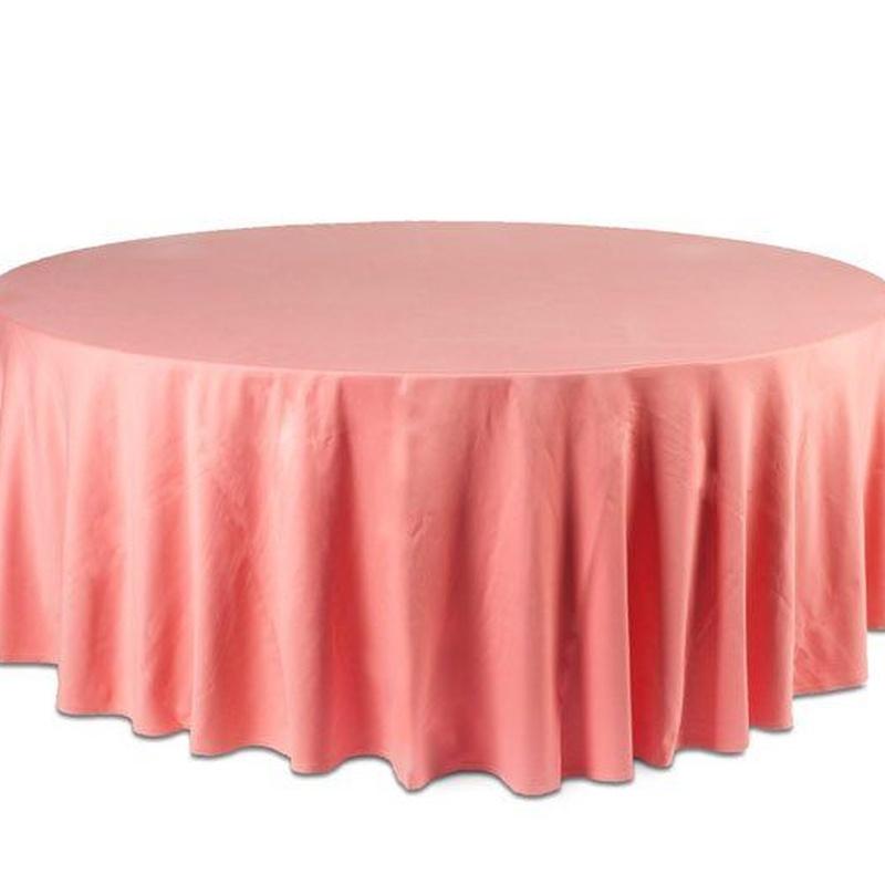 Mantel redondo rosa: Alquiler de Mantelería & Menaje