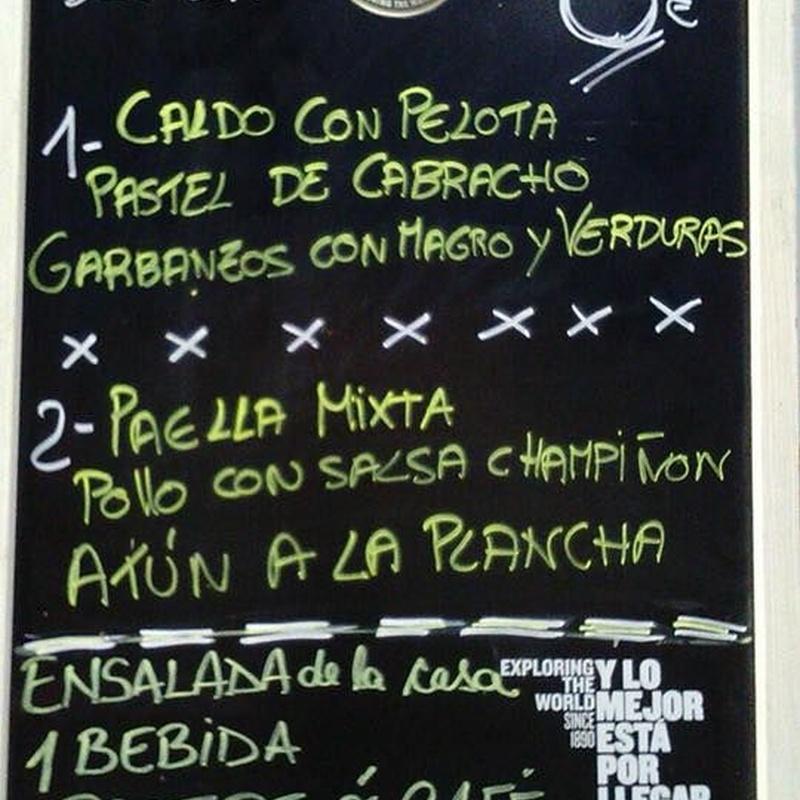 Menú diario en Franja Verde 2 y 3 : Carta de Tapas y menús de Tapería Franja Verde