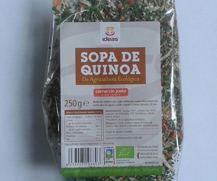 SOPA DE QUINOA, IDEAS: Catálogo de La Despensa Ecológica