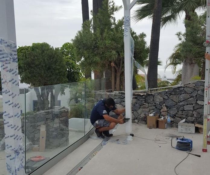 Instalación de pergola aluminio exterior