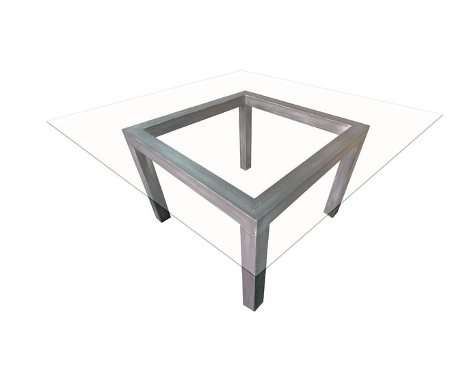 Mesa Arquitectura Hierro Pizarra y cristal : Catálogo de Casa Nativa