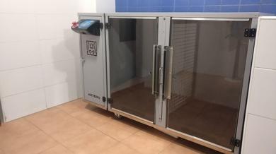 Cabina de secados para animales