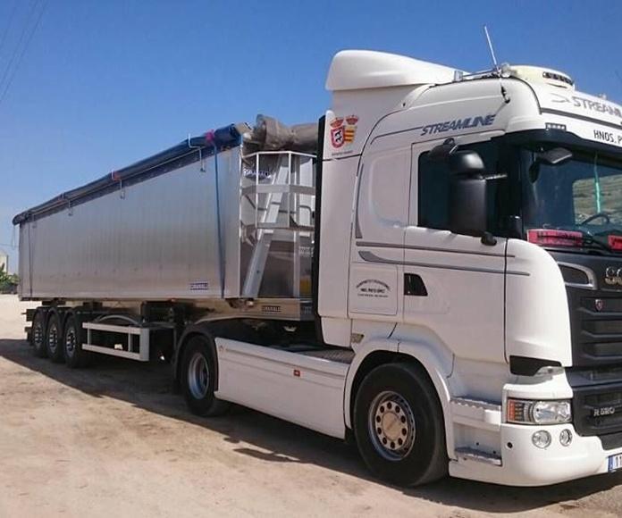 Transporte de mercancías: Servicios de Transp. y Exc. Hnos. Prieto Gómez S.L.