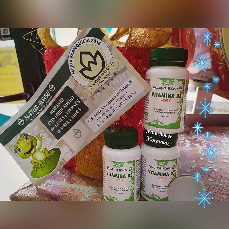 Vitamina D de venta en tu centro de ditética Naturhouse Moratalaz