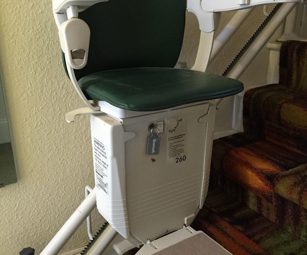 Las sillas salvaescaleras en los centros geriátricos