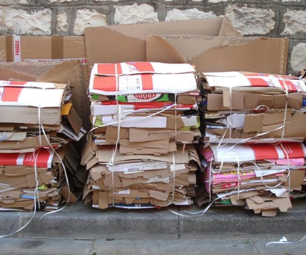 Usos del cartón reciclado