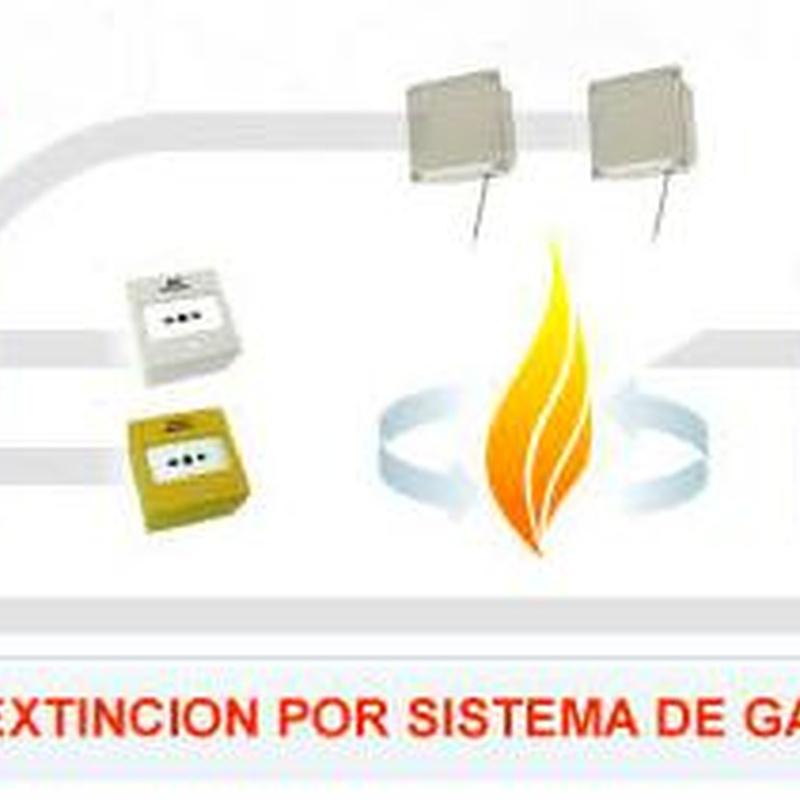 Extinción automática mediante gas: SERVICIOS  de Ignifugaciones Lotor S.L.