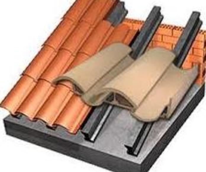 Tejas: Materiales de construcción de F. Campanero Materiales Construcción, S.L.