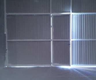 Puertas de forja para entrada a parcela.: Trabajos de Cerrajería Alberto Bautista