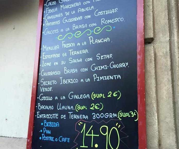 Menús diarios: Especialidades y platos  de Restaurante Charrito