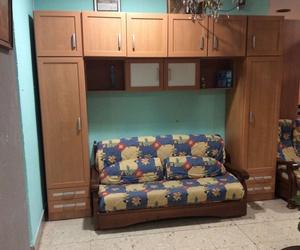 Mueble puente con sofá cama