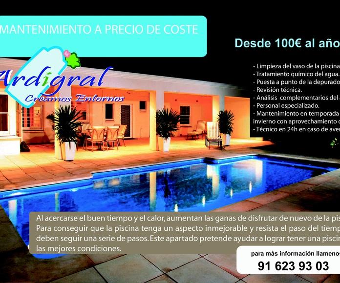 Mantenimiento de piscinas a precio de coste