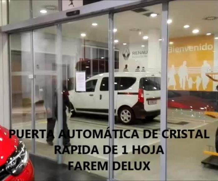 PUERTA DE CRISTAL DE APERTURA RÁPIDA  AUTOMÁTICA FAREM DELUXE