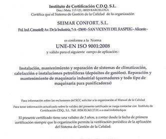 Sustitución de calderas: Catálogo de Seimar Confort