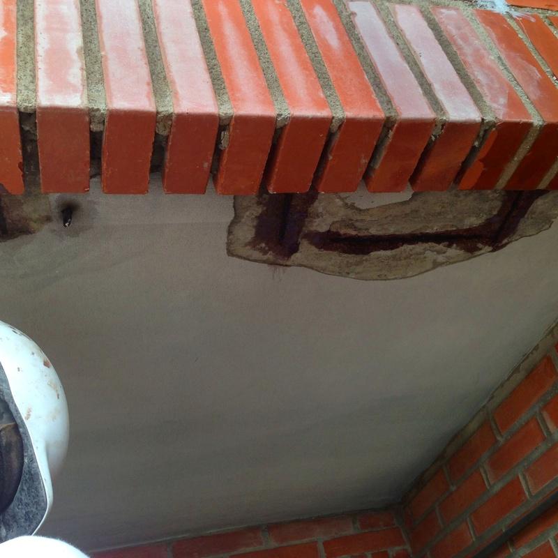 Reparación de dinteles de ladrillo visto. Fachadas Cantabria