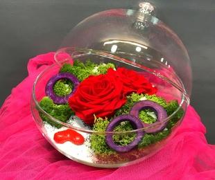 Centro rosas eternas