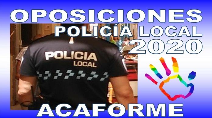 Oposiciones Policía Local: Formación de Acaforme