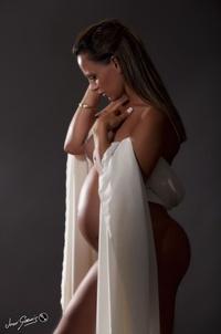 Fotografia embarazada en estudio