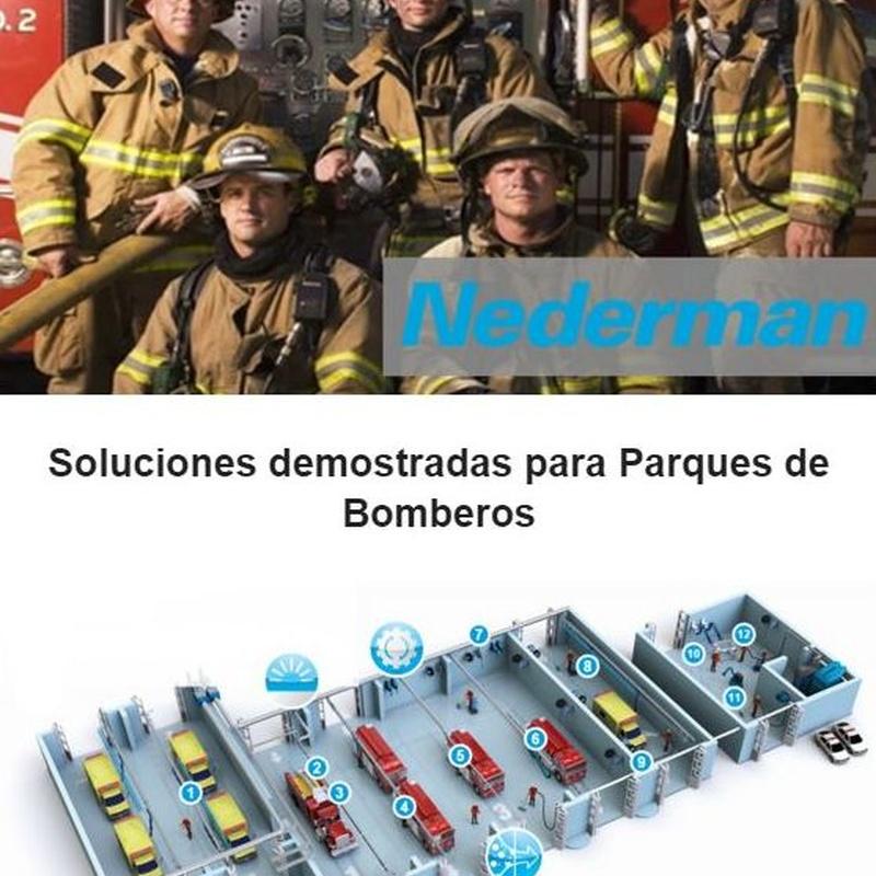 Extracción de gases de escape en Parques de Bomberos: Productos de E.T.I.S.A. Exclusivas Técnicas Industriales, S.A.