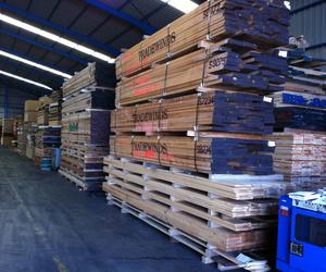 Distribución de vigas, tableros y maderas Toledo
