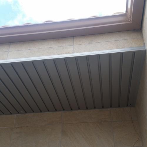 falso techo de aluminio y canalon
