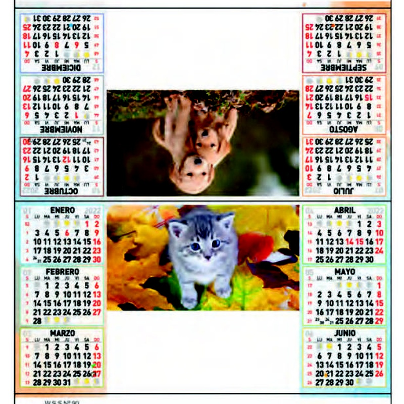 Ref. 90 - Animales: Nuestros Productos de Gráficas Kalendex