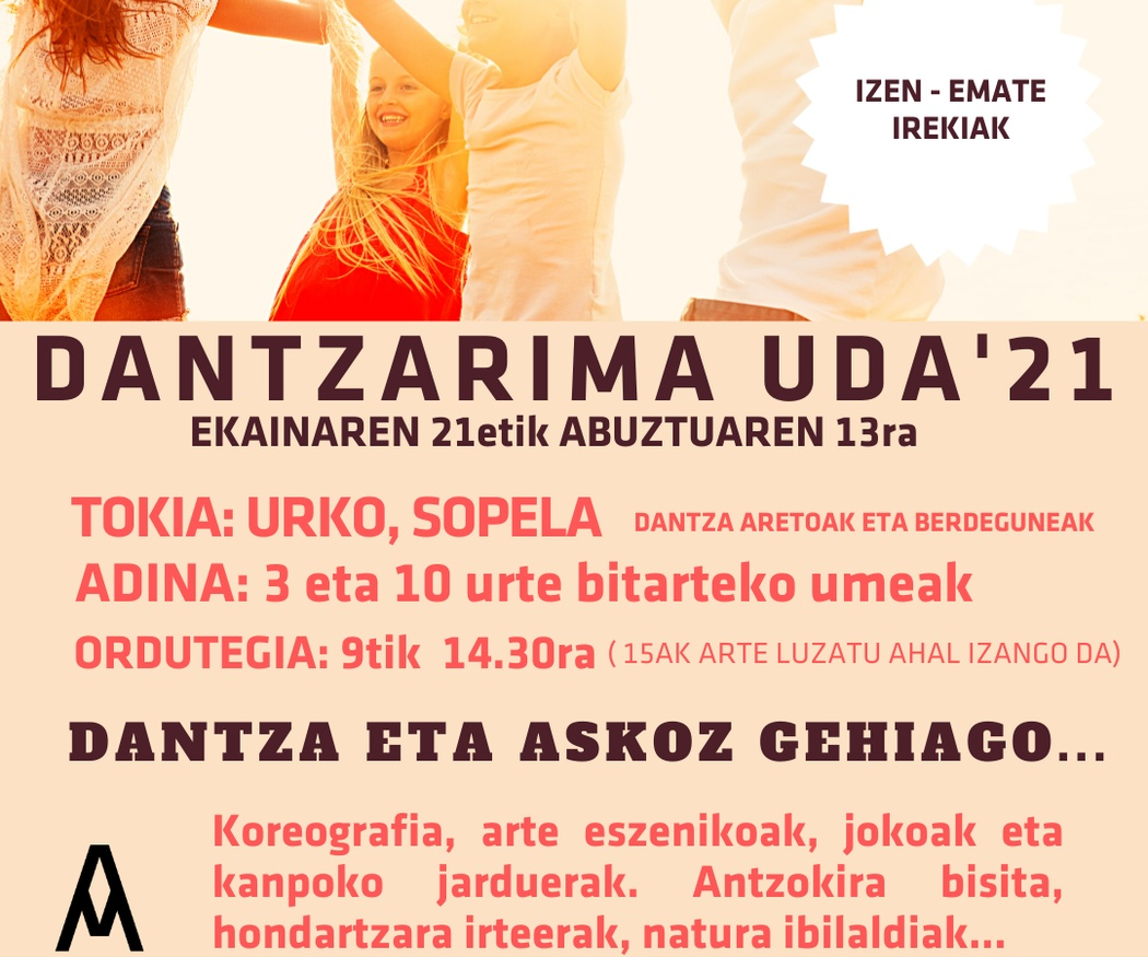 DANTZARIMA UDA 21 (a partir de 3 años)