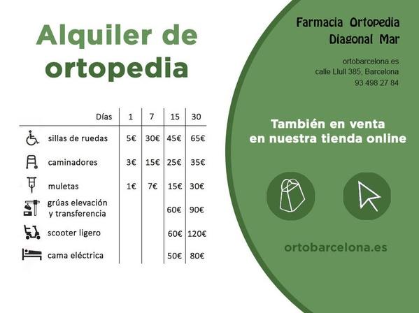 alquiler ortopedia bcn